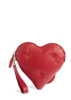 Anya Hindmarch Chubby Heart Leather Clutch