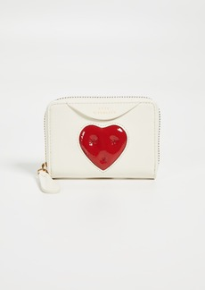Anya Hindmarch Chubby Heart Small Zip Round Wallet