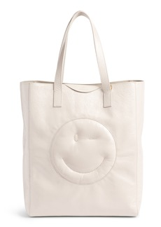 Anya Hindmarch Chubby Smiley Leather Tote