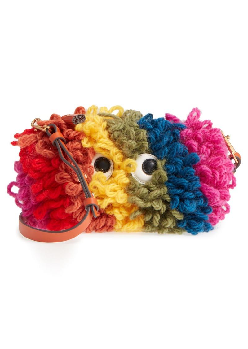 Crossbody Creeper Bag in Multi Chunky Wool Anya Hindmarch XTOQGa