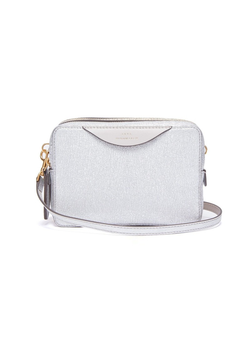 b283ae0de2 Anya Hindmarch Anya Hindmarch Double-stacked leather cross-body bag ...