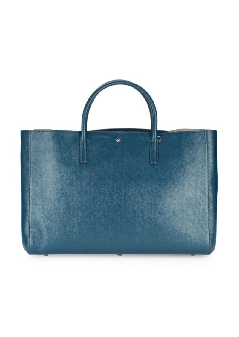 Anya Hindmarch Ebury Tie-Up Leather Handbag