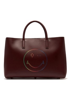 Anya Hindmarch Ebury wink smiley leather tote