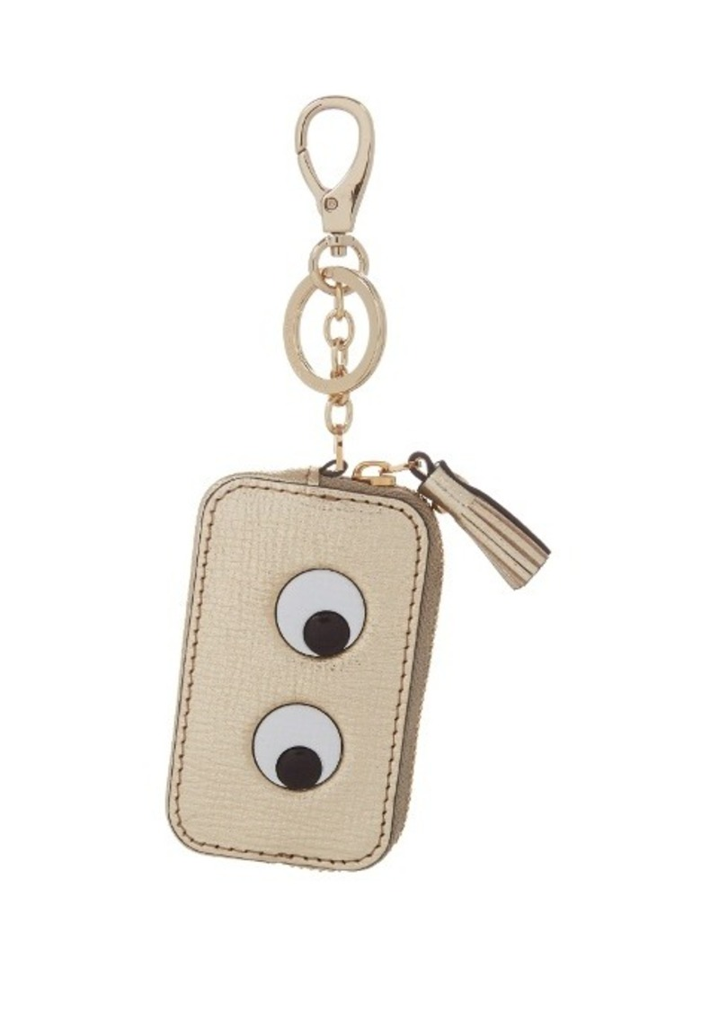 Anya Hindmarch Eyes leather purse and key ring