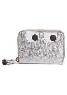 Anya Hindmarch Eyes Small Metallic Leather Zip Around Wallet