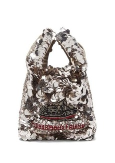 Anya Hindmarch Fisherman's Friend recycled-satin tote bag