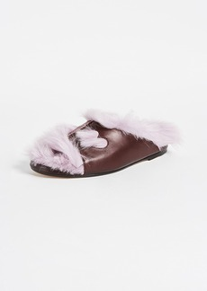 Anya Hindmarch Fuzzy Slippers