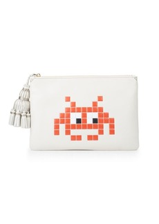 Anya Hindmarch Georgiana Space Invaders Leather Pouch
