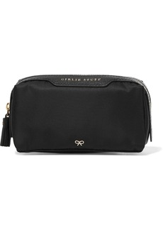 Anya Hindmarch Girlie Stuff leather-trimmed shell cosmetics case