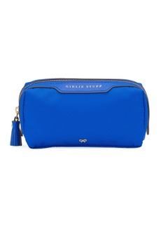Anya Hindmarch Girlie Stuff Nylon Cosmetics Bag  Electric Blue