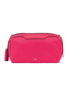 Anya Hindmarch Girlie Stuff Nylon Cosmetics Bag  Hot Pink