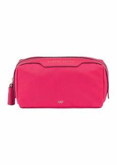 Anya Hindmarch Girlie Stuff Nylon Cosmetics Bag  Hot Pink