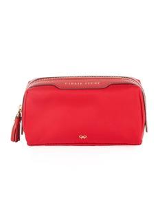 Anya Hindmarch Girlie Stuff Nylon Cosmetics Bag  Red
