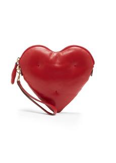 Anya Hindmarch Heart Chubby leather clutch