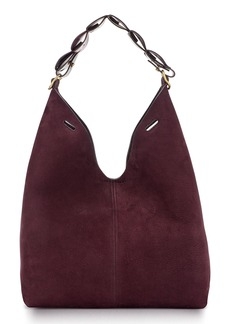 Anya Hindmarch Heart Link Small Suede Bucket Bag