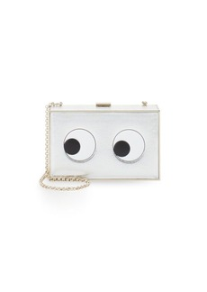 Anya Hindmarch Imperial Eyes Metallic Box Clutch