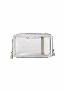 Anya Hindmarch Inflight Patent Leather Clear Travel Pouch  White