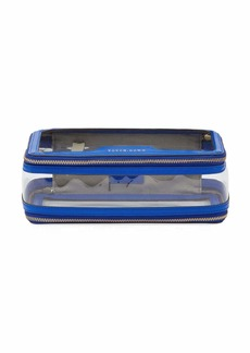 Anya Hindmarch Inflight See-Through Cosmetics Bag  Electric Blue