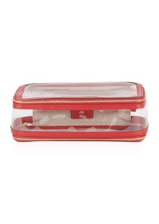 Anya Hindmarch Inflight See-Through Cosmetics Bag  Red