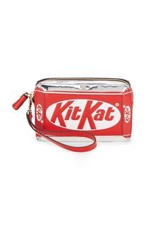 Anya Hindmarch Kit-Kat Zippered Leather Wristlet
