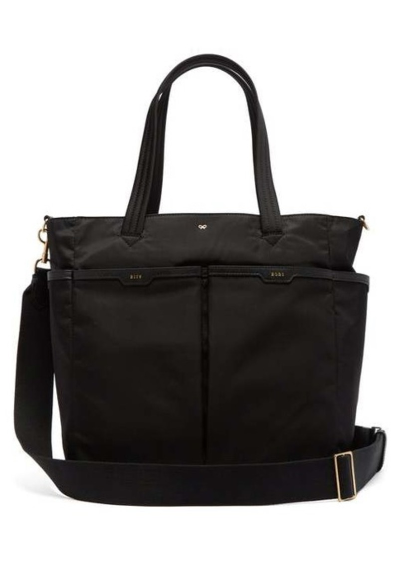 Anya Hindmarch Leather-trim baby tote bag