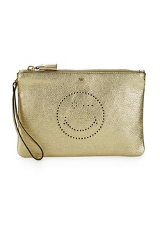 Anya Hindmarch Metallic Face Zip Top Pouch