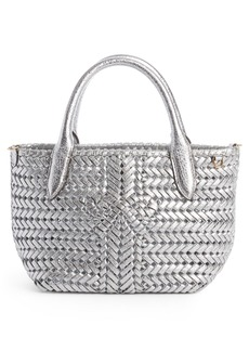 ebac531c849a Anya Hindmarch Mini Neeson Woven Metallic Leather Tote