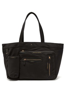 Anya Hindmarch Multi-pocket leather-trimmed tote bag