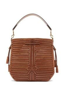 Anya Hindmarch Neeson woven-leather bucket bag