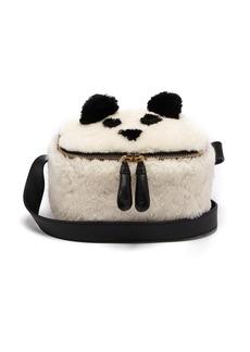 Anya Hindmarch Panda shearling lunch box bag