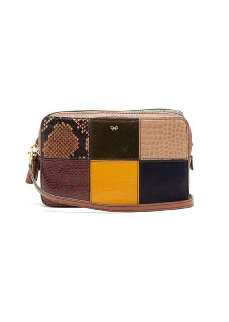Anya Hindmarch Patchwork snake-effect leather cross-body bag