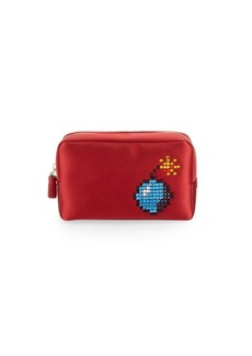 Anya Hindmarch Pixel Satin Makeup Bag