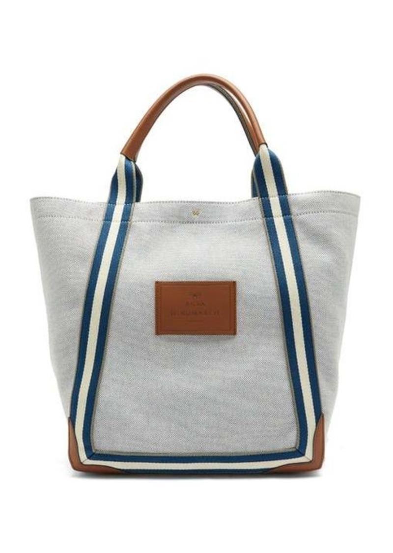 Anya Hindmarch Pont striped-handle canvas tote bag