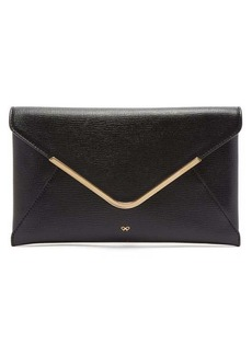 Anya Hindmarch Postbox grained-leather envelope clutch