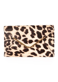 Anya Hindmarch Postbox Leopard Envelope Clutch Bag
