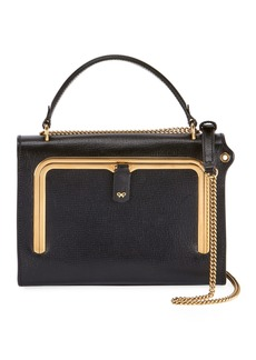 Anya Hindmarch Postbox Small Grain Top Handle Bag