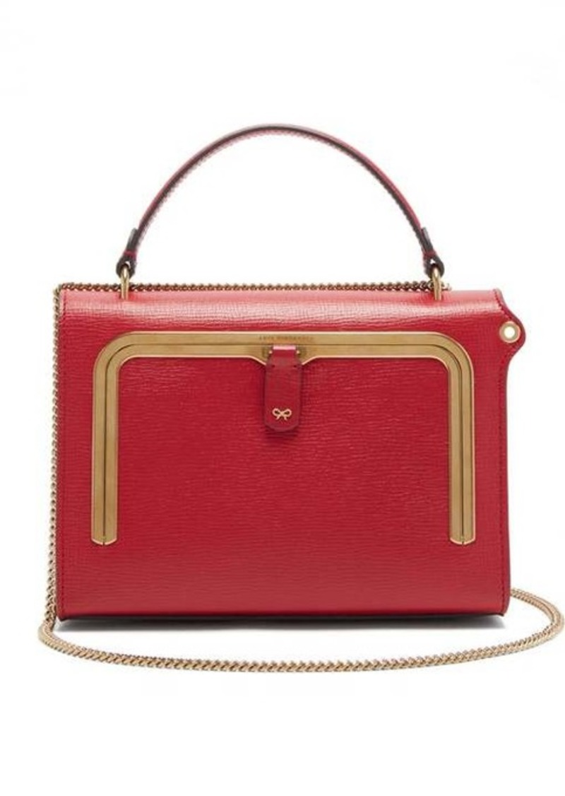 Anya Hindmarch Postbox small grained-leather cross-body bag