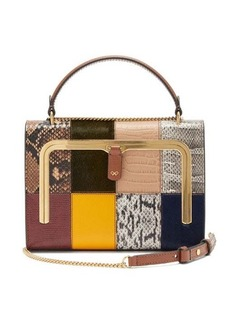 Anya Hindmarch Postbox small patchwork-leather bag