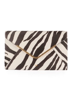 Anya Hindmarch Postbox Zebra Envelope Clutch Bag