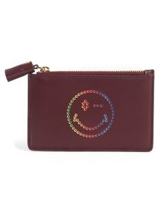 Anya Hindmarch Rainbow Smiley Leather Card Case