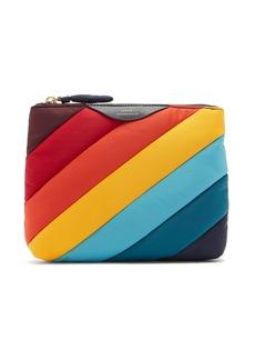 Anya Hindmarch Rainbow-striped nylon pouch
