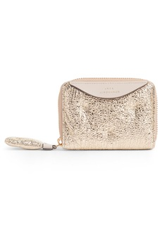 Anya Hindmarch Small Chubby Metallic Leather Zip Around Wallet