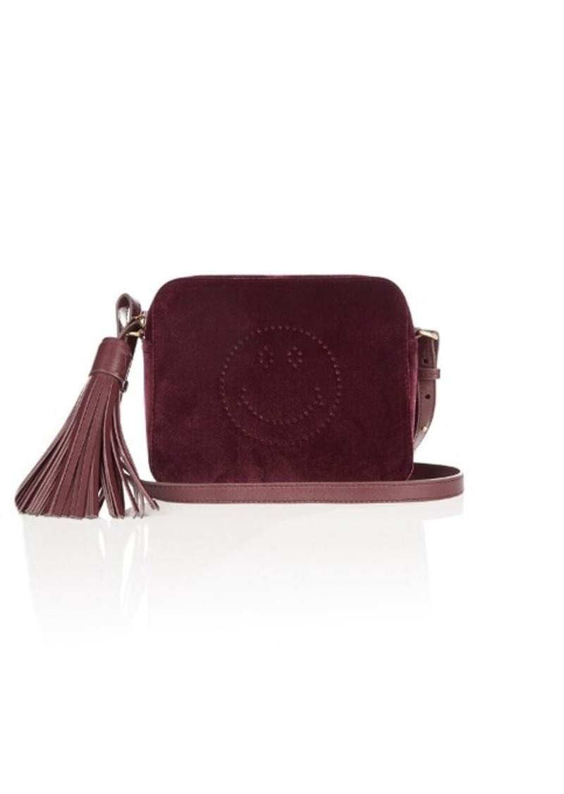630d6c805 Anya Hindmarch Anya Hindmarch Smiley velvet cross-body bag | Handbags