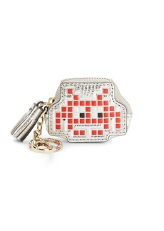 Anya Hindmarch Space Invaders Robot Leather Coin Purse
