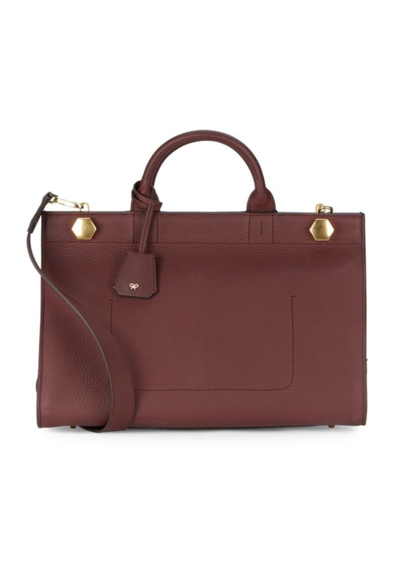 Anya Hindmarch Textured Leather Crossbody Bag