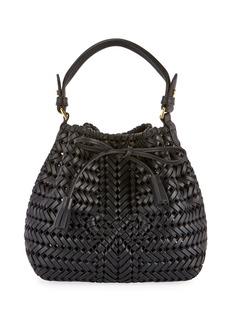 Anya Hindmarch The Neeson Mini Drawstring Bucket Bag  Black