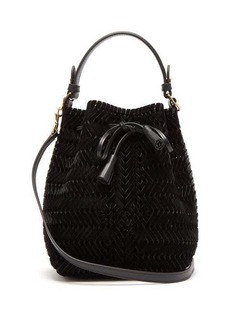 Anya Hindmarch The Neeson mini velvet woven bucket bag