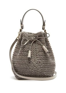 Anya Hindmarch The Neeson mini woven-velvet bucket bag