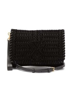 Anya Hindmarch The Neeson small ribbon-velvet cross-body bag
