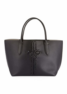 Anya Hindmarch The Neeson Smooth Shopper Tote Bag  Black